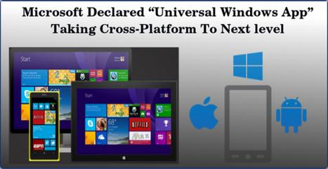"Microsoft Declared ""Universal Windows App"" Taking Cross-Platform To Next level | Web & Mobile App Development | Scoop.it"