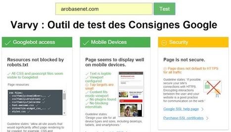 Varvy : L'outil SEO qui vérifie que votre site respecte les consignes de Google | Boite à outils E-marketing | Scoop.it