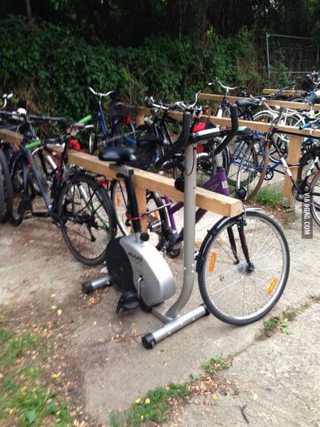 Someone locked an ergometer to a bycicle rack | Revue de web de Mon Cher Vélo | Scoop.it