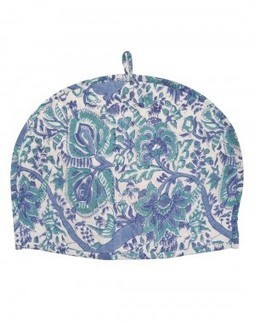 Buy Floral Hand Block Printed White Cotton Tea Cosy | Fashion & Accessories | Scoop.it