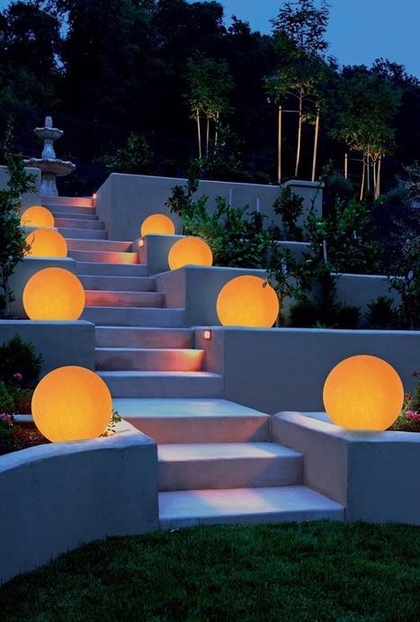 Le atmosfere luminose per il giardino   Snapshots   LIVING (work, life & style)   Scoop.it