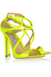 Jimmy Choo | Lance neon patent-leather sandals |  | Fashion in the City | Scoop.it