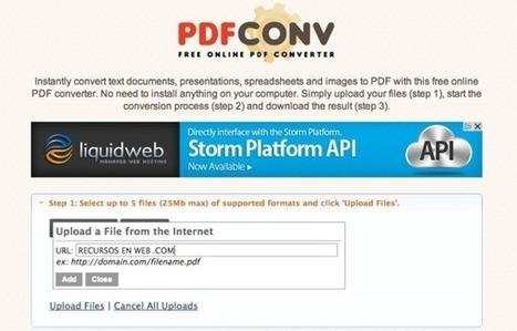 PDFconv permite convertir todo tipo de documentos a PDF desde cualquier navegador | Las TIC y la Educación | Scoop.it