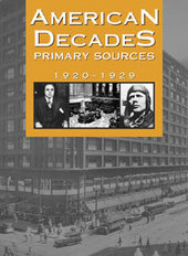 Gale Catalog - American Decades Primary Sources - 1920-1929 - 9780787665906 | american mafia 1920s | Scoop.it