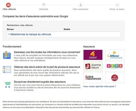 Google abandonne son comparateur d'assurance auto... pour l'instant - Actualité Abondance | La curation en communication web | Scoop.it