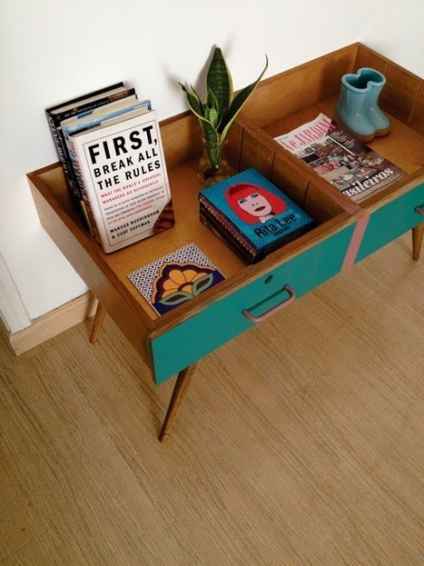 Repurpose 2 drawers to make a vintage side table | Make it new, make it work | Scoop.it