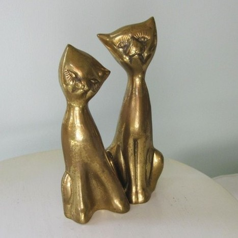 vintage pair solid brass kitty cats   The Funniest Cats In The World!   Scoop.it