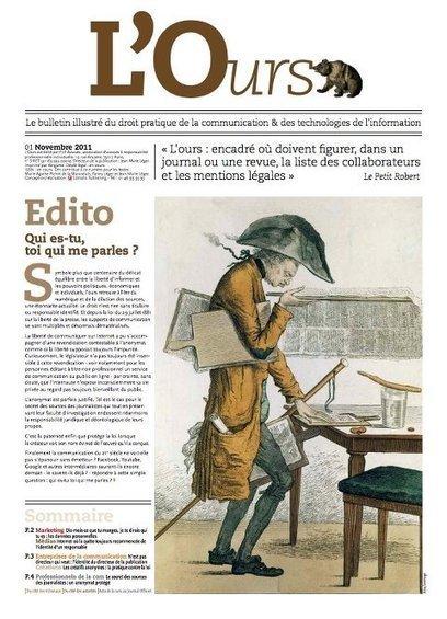 Découvrez le 1er numéro de L'Ours, le bulletin illustré du droit pratique de la #communicaiton et des TIC !   Communication&Entreprise   Scoop.it
