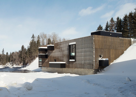 Wood-clad hydroelectric plant in Quebec by Pierre Thibault | Innovative Architecture and Façade design | Scoop.it