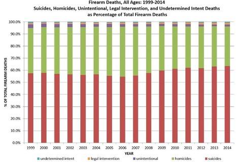 US Gun Deaths, 1999-2014 - Gun Control - ProCon.org | Taking a Stand | Scoop.it