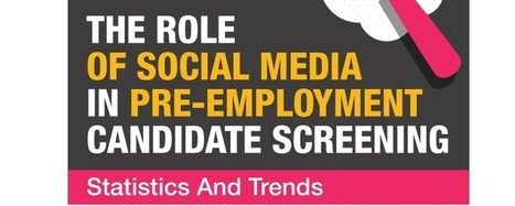 The role of social media in pre-employment screening [infographic] | Social Media | Scoop.it