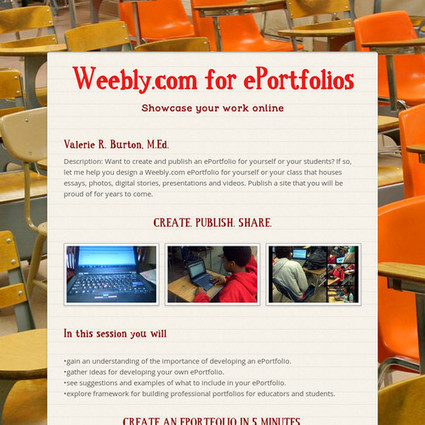 Weebly.com for ePortfolios | Tools, Tech and education | Scoop.it