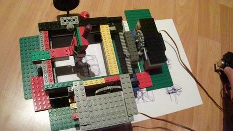 An Arduino-controlled LEGO drawing machine | Arduino, Netduino, Rasperry Pi! | Scoop.it