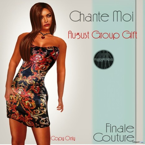 Chante Moi Dress August 2015 Group Gift by Finale Couture | Teleport Hub - Second Life Freebies | Second Life Freebies | Scoop.it