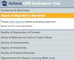 Achieve OER Online Evaluation Tool | Institute for the Study of Knowledge Management in Education | Carolina Science Online | Scoop.it