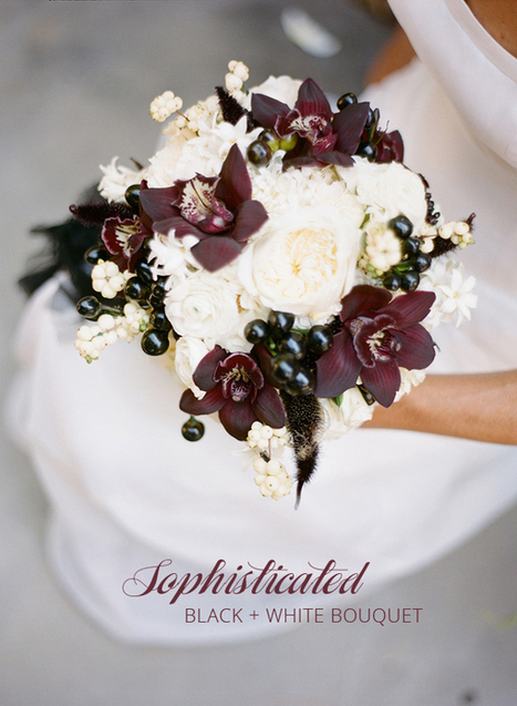 Black and White Bouquet for Halloween Ruffled | Celebra | Scoop.it