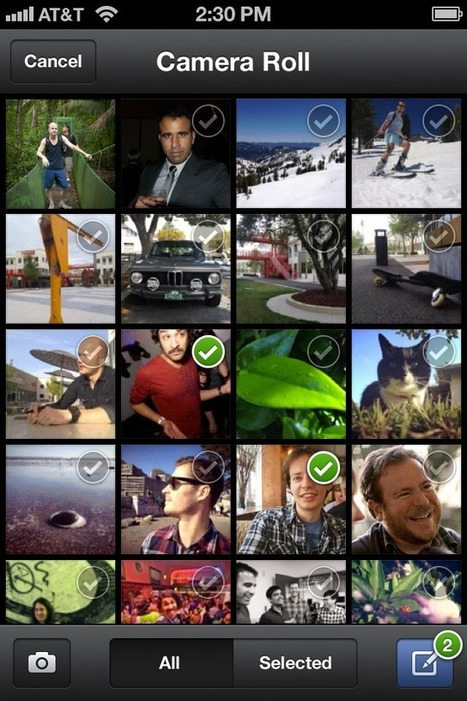 Now You Can Upload Multiple iPhone Photos to ... - Mashable | multiple photo select | Scoop.it