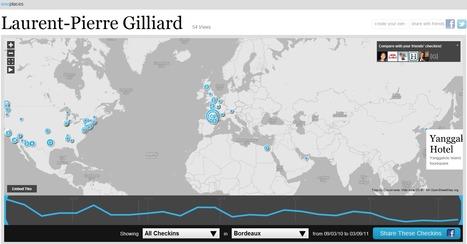 WeePlaces = historique de vos lieux visité sous FourSquare | Technophile | Scoop.it