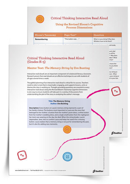 Critical Thinking Interactive Read Aloud | Literacy | Sadlier | Skolbiblioteket och lärande | Scoop.it