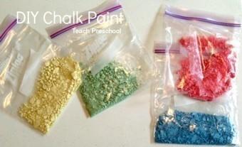 DIY chalk paint | Teach Preschool | Scoop.it