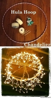Upcycling - Hula Hoop to Chandelier Project What... - Austin Junk Removal Blog - Dirty Work | Upcycling & Recycling | Scoop.it