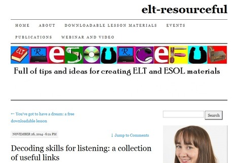 Decoding skills for listening: a collection of useful links   English Language Teaching   Scoop.it