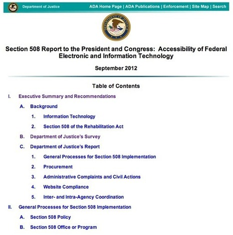 DoJ's Section 508 Report: PDF is everywhere | Accessible elearning | Scoop.it
