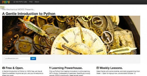"It's Alive! The Mechanical MOOC offers ""Gentle Intro to Python"" 