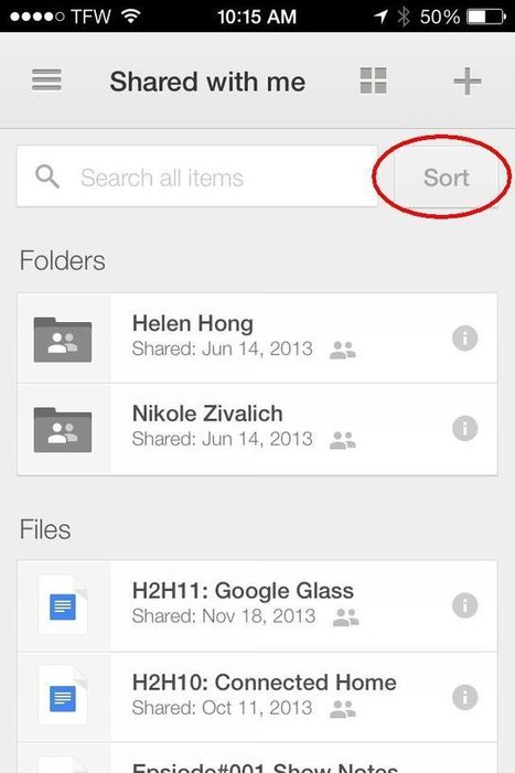 Google Drive for iOS adds sorting, searching | Educational Technology - Yeshiva Edition | Scoop.it