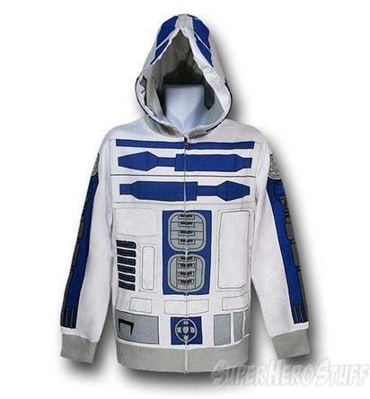 Star Wars R2D2 Costume Zip Hoodie | All Geeks | Scoop.it