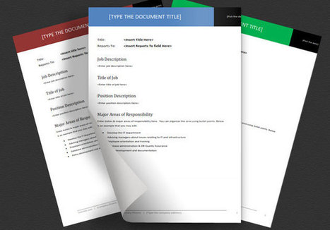 Job Description Templates for Word - LeanJob | Lean Job | Scoop.it