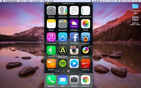 ¿Cómo capturo video de mi dispositivo iOS 8 en OS X Yosemite? | iPad classroom | Scoop.it