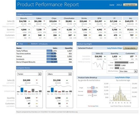 Learn how to create these 11 amazing dashboards [Excel] | Time to Learn | Scoop.it