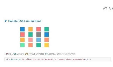 Choisissez les animations de vos prochains projets sans efforts avec Anicollection et AniJS | Web Increase | Scoop.it