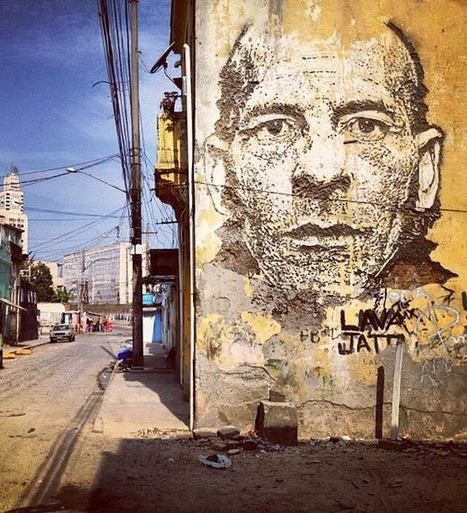 Vhils – Nouvelle série de street art gravé sur les murs | Ciudad | Scoop.it