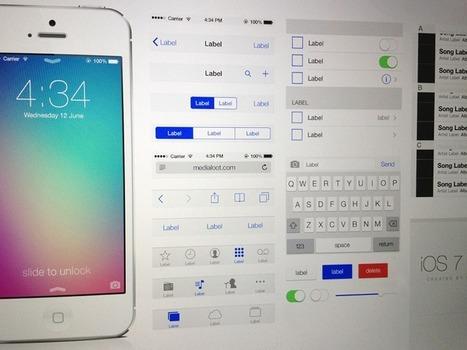 iOS 7 UI Kit (Free Download .psd) | test | Scoop.it