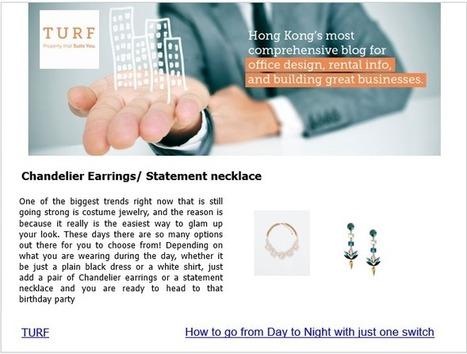 Chandelier Earrings/ Statement necklace | Office Design | Scoop.it