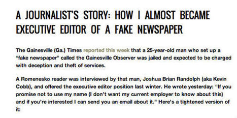 Job-Hunting Journalists Duped by Fake Newspaper - The Root (blog) | the interpreters | Scoop.it
