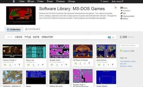L'Internet Archive ajoute près de 2400 jeux MS-DOS jouables en ligne | Au hasard | Scoop.it
