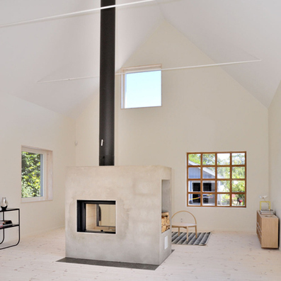 Lofty house with a concrete wood-burning stove by Sandell Sandberg   High Quality Wood Burning Stove   Scoop.it