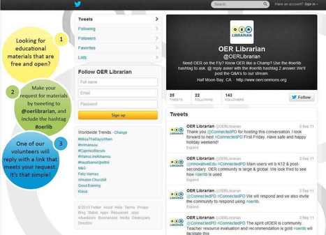 Find OER via OER Librarian on Twitter | Open education strumenti | Scoop.it