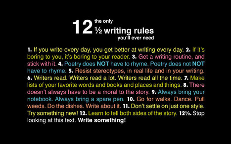 The Only 12 ½ Writing Rules You'll Ever Need [Chart] | CDS CCSS | Scoop.it