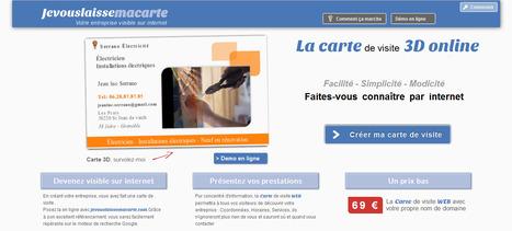 Auto entrepreneur carte de visite en ligne site internet | astuces web et communication par arret net .fr | Scoop.it