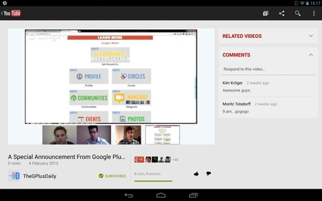 Google Plus Daily: Latest YouTube App Update Further Embeds ... | DISCOVERING SOCIAL MEDIA | Scoop.it