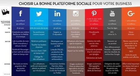 Choisir la bonne plateforme sociale pour votre business | Chiffres et infographies | Scoop.it