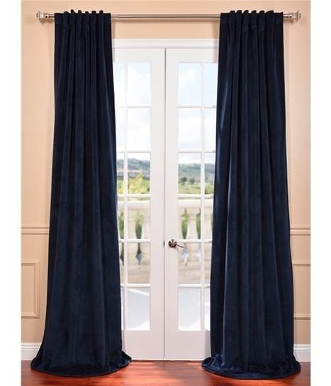 Signature Midnight Blue Blackout Velvet Curtain | window curtains | Scoop.it