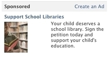 This Facebook Ad Campaign Might Save Your School Library | PC ... | Integral to learning: the school library in C21 | Scoop.it