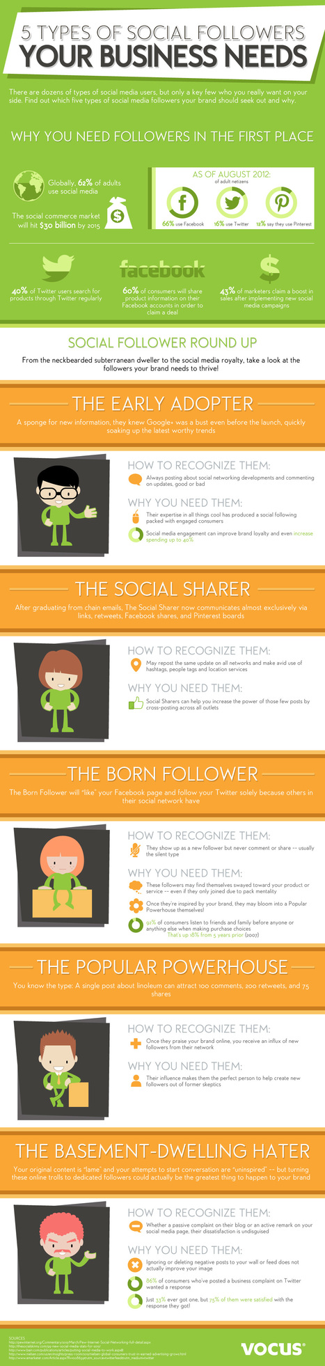 The 5 Types of Social Followers that Every Business Needs [INFOGRAPHIC] | DV8 Digital Marketing Tips and Insight | Scoop.it