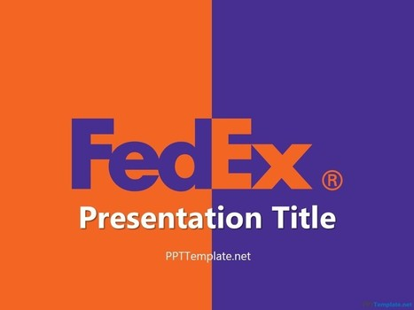 Free Fedex With Logo PPT Template | Free PPT Templates | Scoop.it