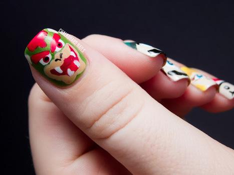 Chalkboard Nails: Mamma Mia!: Mario Character Nail Art | Nails, Beauty, Fashion, Hersham | Scoop.it